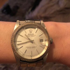 ROLEX Vintage Oyster Perpetual Watch Silver